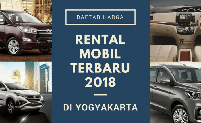 Car Rental Price List in Yogyakarta