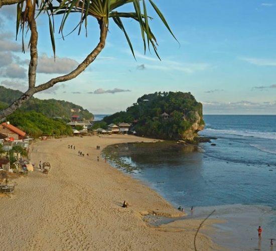 Indrayanti Beach in Gunungkidul